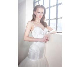 שמלת כלה חלק עליון צמוד וטול