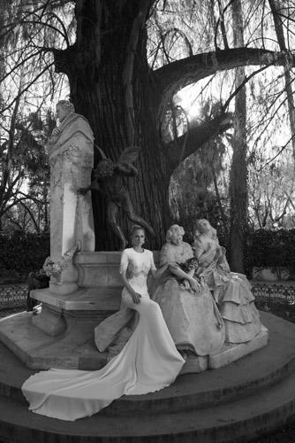 שמלת כלה קלאסית לחתונה חורפית