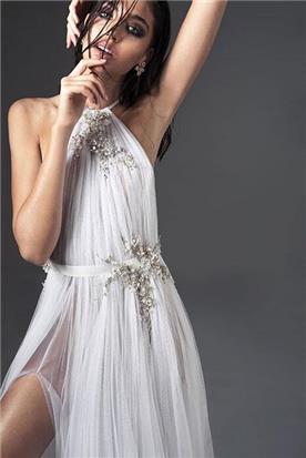 שמלת ערב עם צווארון
