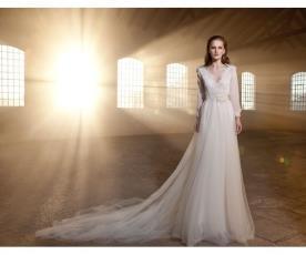 שמלת כלה חורפית למראה מלכותי