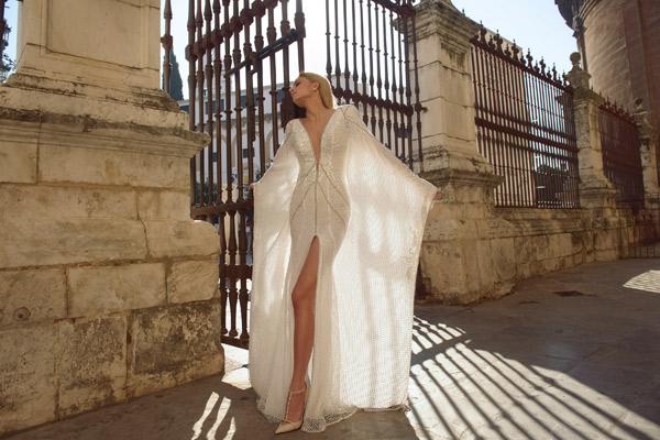 שמלת כלה עם חרוזים למראה קלאסי