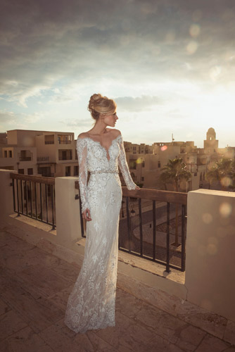 שמלת כלה אלגנטית לחתונה חורפית