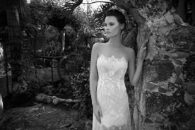 שמלת כלה סטרפלס עם טופ משונן