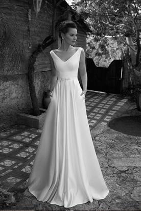 שמלת כלה אלגנטית עם כיסים