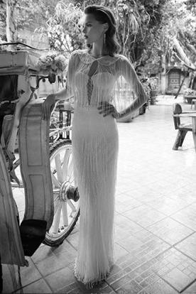 שמלת כלה אלגנטית עם חרוזים