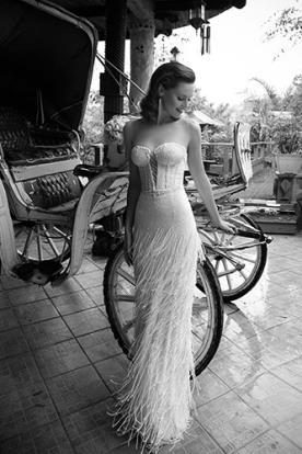 שמלת כלה קלאסית עם פרנזים