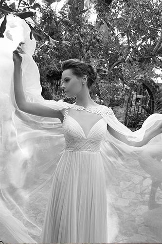 שמלת כלה אמפייר בסגנון יווני עדין