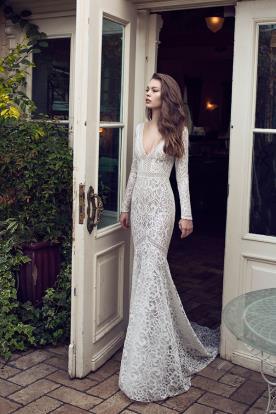 שמלת כלה בוהו עם שרוולים ארוכים