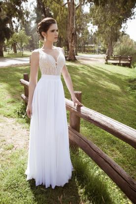 שמלת כלה שמפניה ולבן