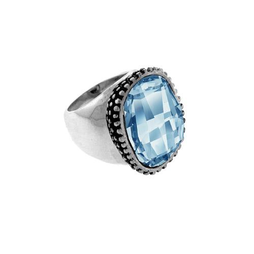 טבעת חותם אבן כחולה