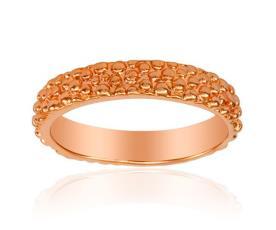 טבעת נישואין זהב אדום עיגולים