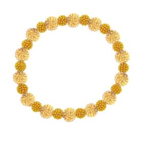 צמיד חרוזים מצופים זהב