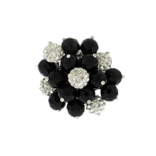 טבעת אשכול אבנים שחורות