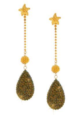 עגילים מצופים זהב עם כוכב