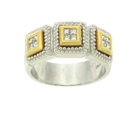 טבעת אירוסין בשני צבעים