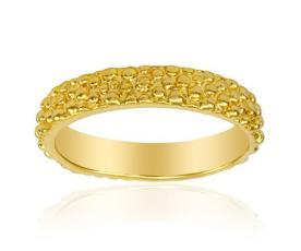 טבעת נישואין טקסטורת טיפות
