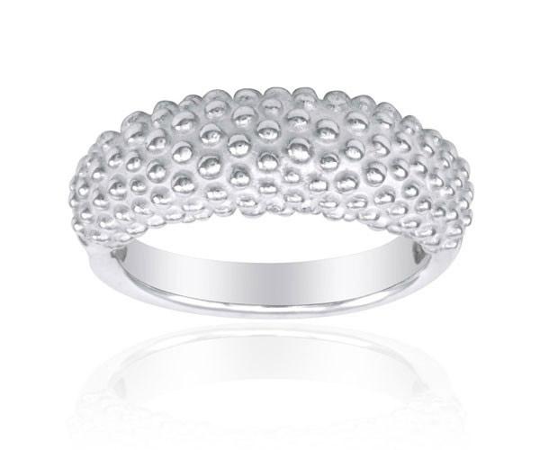 טבעת נישואין בטקסטורה כדורית