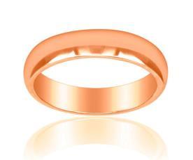 טבעת נישואין קלאסית זהב אדום