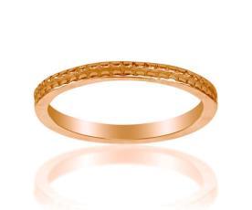 טבעת נישואין צרה זהב אדום