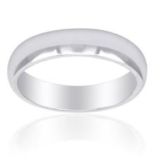 טבעת נישואין זהב לבן חלקה