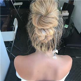עיצוב שיער אסוף לערב