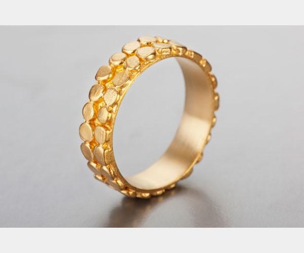טבעת זהב מורכבת חישוקי עיגולים