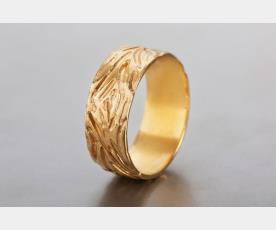 טבעת נישואין ייחודית מזהב