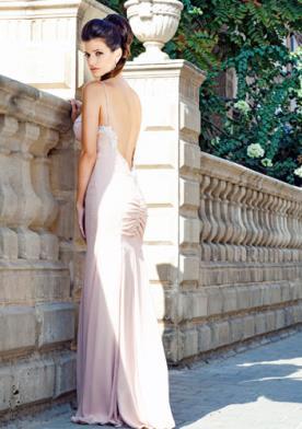שמלת ערב מקסי ורודה עתיק