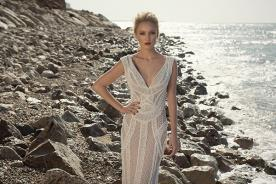שמלת כלה קווים גאומטריים מחורזת