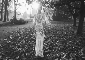 שמלת כלה עם תחרה ופרנזים