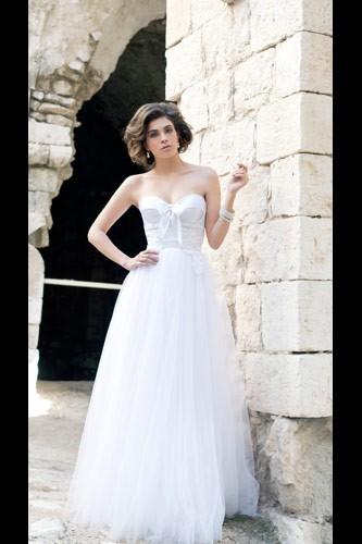שמלת כלה נסיכתית נפוחה