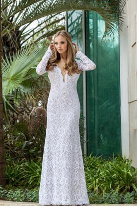 שמלת כלה קלאסית תחרה מיוחדת