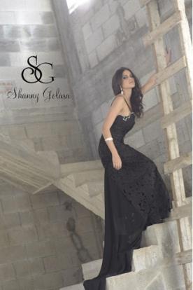שמלת ערב מרשימה שחורה