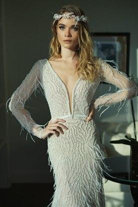 שמלת כלה פרנזים ואבנים