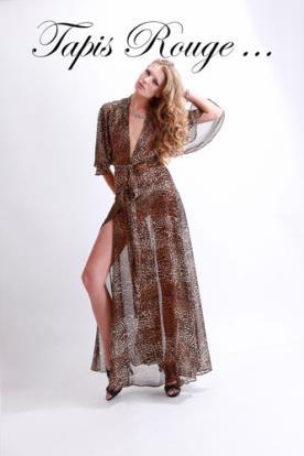 שמלת ערב מנומרת בוהו שיק