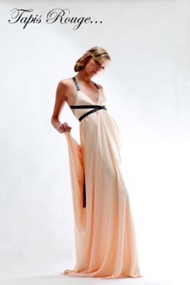 שמלת ערב ורודה יוונית