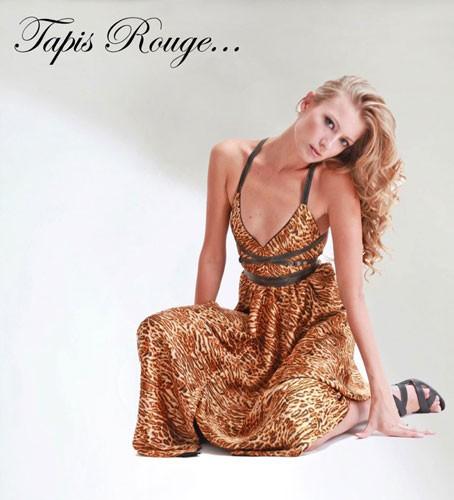 שמלת ערב מנומרת