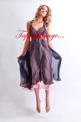 שמלת ערב רומנטית שכבות שיפון