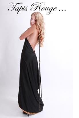שמלת ערב שחורה נשפכת