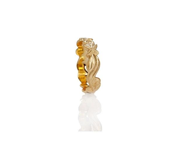 טבעת נישואין וינטג' זהב צהוב