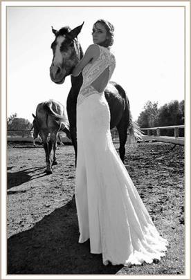 שמלת כלה תחרה מיוחדת גב פתוח