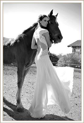 שמלת כלה תחרה מיוחדת גב איקס