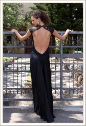 שמלת ערב גב פתוח ותחרה