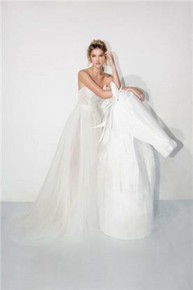 שמלת כלה ללא שרוולים - יניב פרסי - Yaniv Persy