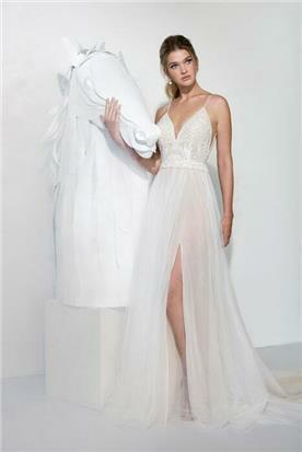 שמלת כלה עם כתפיות - יניב פרסי - Yaniv Persy