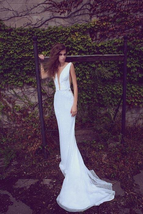 שמלות כלה בגזרה נשפכת