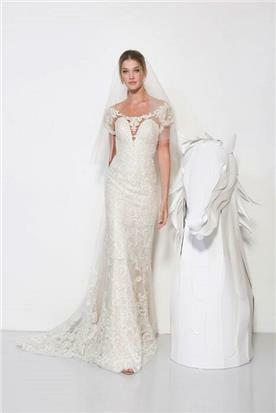שמלת כלה בסגנון צמוד - יניב פרסי - Yaniv Persy
