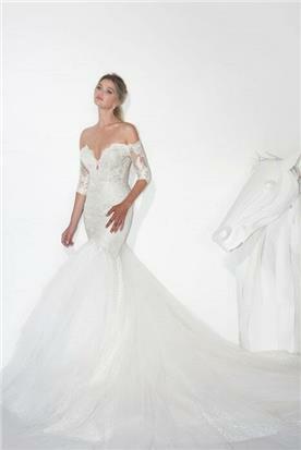 שמלת כלה עם שובל - יניב פרסי - Yaniv Persy