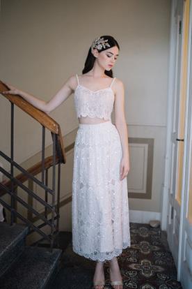 שמלת כלה שני חלקים בסגנון בוהו שיק