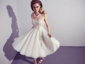 שמלת כלה מידי בסגנון רומנטי
